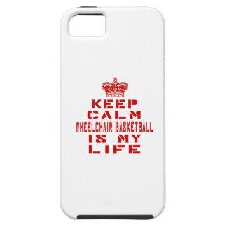 Keep calm Wheelchair Basketball is my life Tough iPhone 5 Case