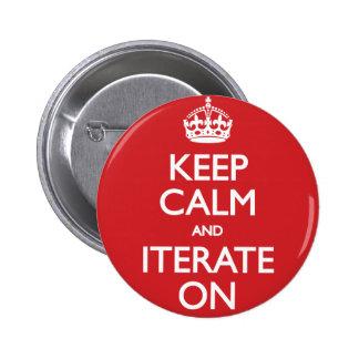 Keep calm wild duck iterate on 6 cm round badge