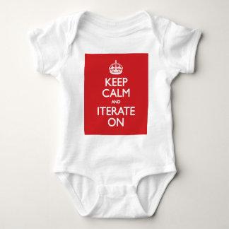Keep calm wild duck iterate on baby bodysuit