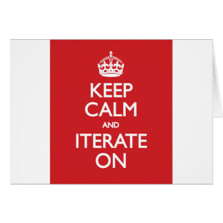 Keep calm wild duck iterate on greeting cards