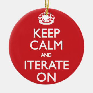 Keep calm wild duck iterate on christmas ornament