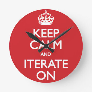 Keep calm wild duck iterate on round wallclock