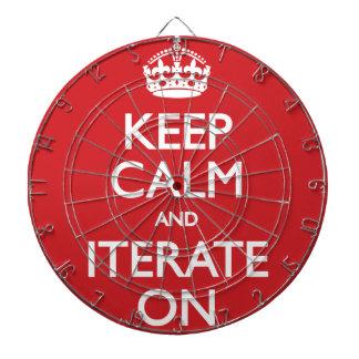 Keep calm wild duck iterate on dart board