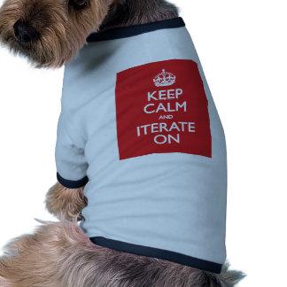 Keep calm wild duck iterate on dog tee
