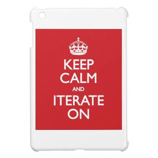 Keep calm wild duck iterate on iPad mini cover