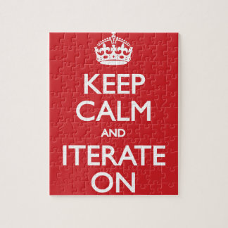 Keep calm wild duck iterate on jigsaw puzzles
