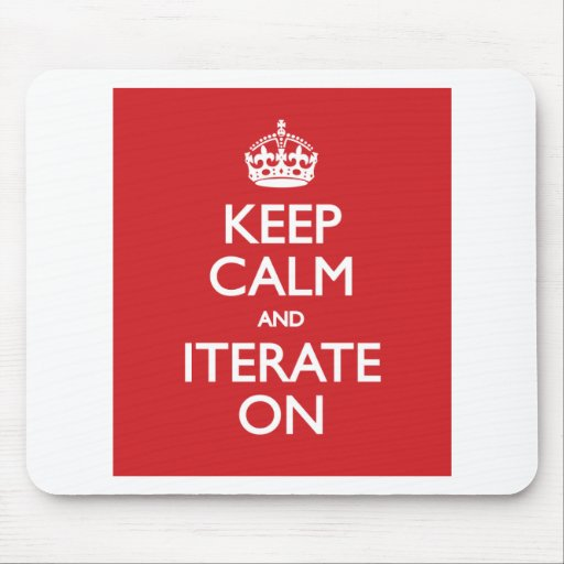 Keep calm wild duck iterate on mousepads