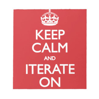 Keep calm wild duck iterate on memo pad