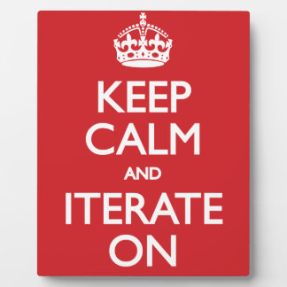 Keep calm wild duck iterate on plaque