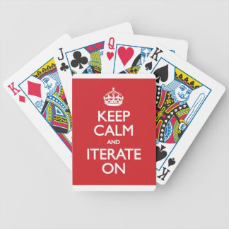 Keep calm wild duck iterate on poker cards