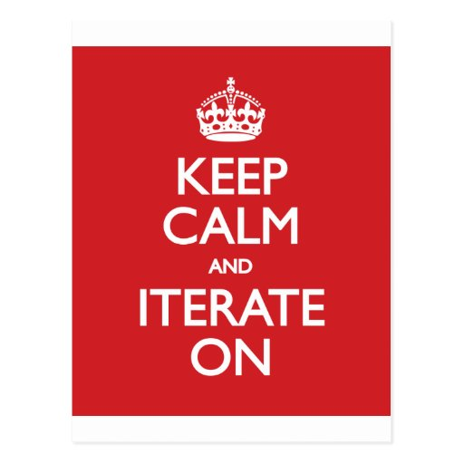 Keep calm wild duck iterate on post cards