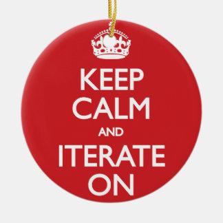 Keep calm wild duck iterate on round ceramic decoration