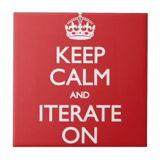 Keep calm wild duck iterate on small square tile