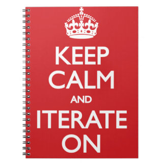 Keep calm wild duck iterate on spiral notebook