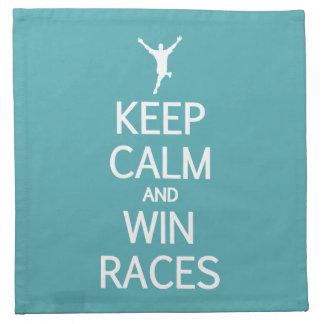 Keep Calm & Win Races cloth napkins