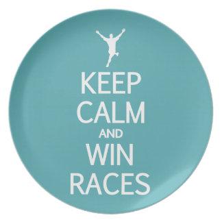 Keep Calm & Win Races custom color plate