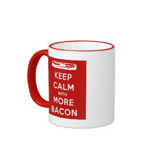 Keep Calm with More Bacon Mug