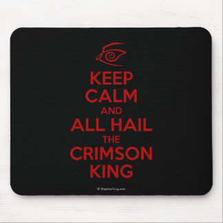 Keep Calm with the Crimson King Mouse Mat
