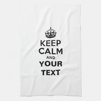 Keep Calm with Your Text Tea Towel