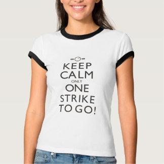 """Keep Calm"" Women's Bowling Ringer T-Shirt"