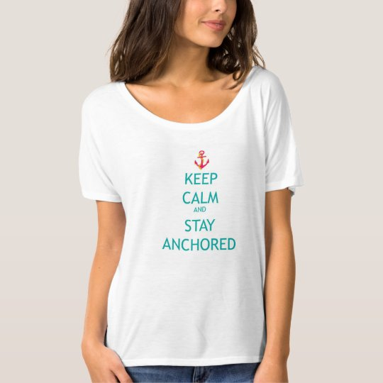 KEEP CALM WOMENS NAUTICAL T-SHIRT