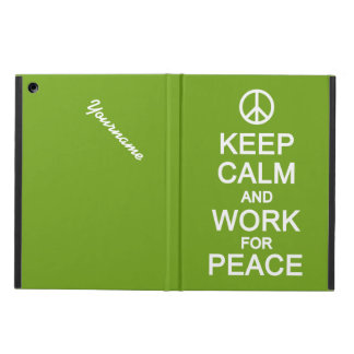 Keep Calm & Work For Peace cases iPad Air Cover