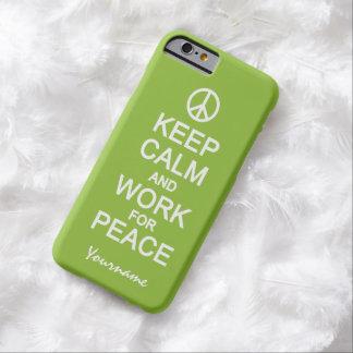 Keep Calm & Work For Peace custom color cases