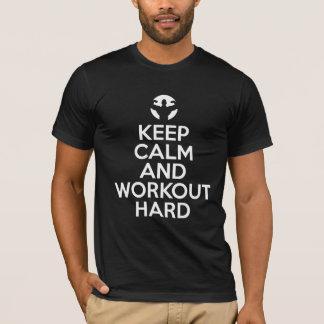 Keep calm workout hard gym motivation funny tshirt