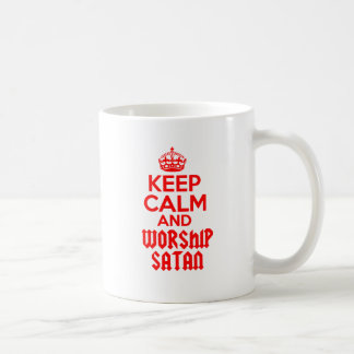 Keep Calm worship Satan Coffee Mug