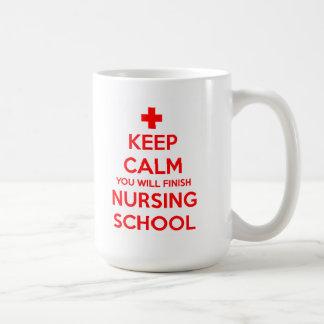 Keep Calm You Will Finish Nursing School Mug