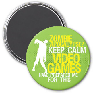 Keep Calm Zombie Apocalypse Funny Gaming Magnet