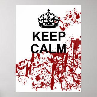Keep Calm Zombie Apocalypse Poster