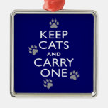 Keep Cats Christmas Ornament