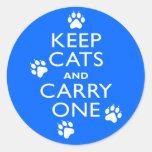 Keep Cats Round Sticker