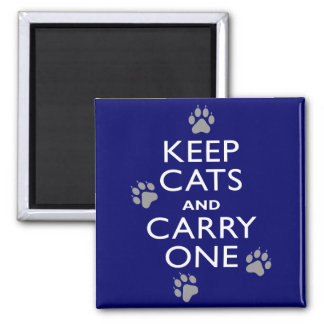 Keep Cats Square Magnet