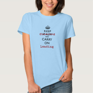 Keep Cheering and Carry On Leading Tee Shirt