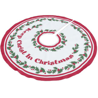 Keep Christ In Christmas Brushed Polyester Tree Skirt