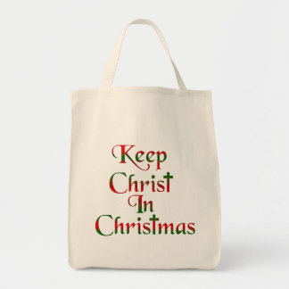 Keep Christ In Christmas Fabric Tote Bag