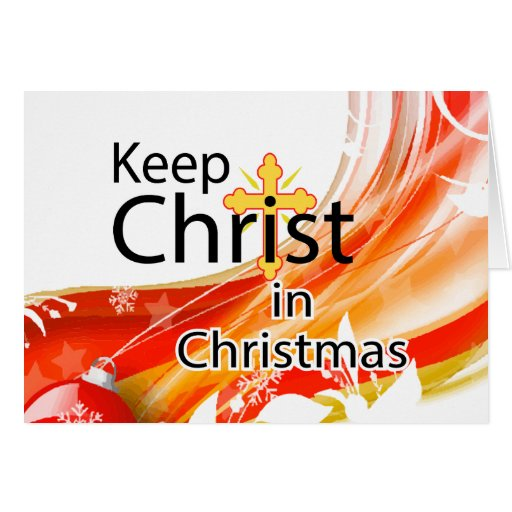 Keeping Christmas All The Year: Keep Christ In Christmas, Swirl Greeting Card