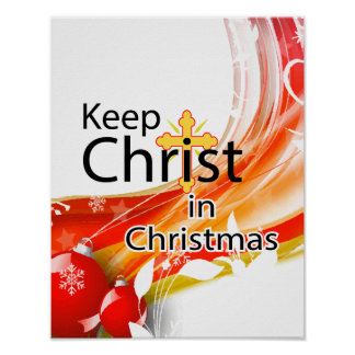 Keep Christ in Christmas, Swirl Poster