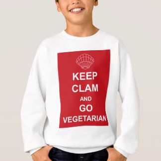 KEEP CLAM AND GO VEGETARIAN SWEATSHIRT