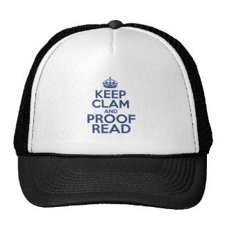 Keep Clam and Proof Read Cap