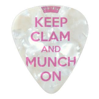 Keep Clam & Munch On Guitar Pick Keep Calm Parody