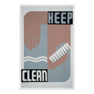 Keep Clean 1938 WPA Poster