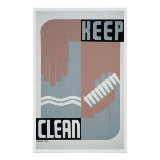 Keep Clean 1938 WPA Poster