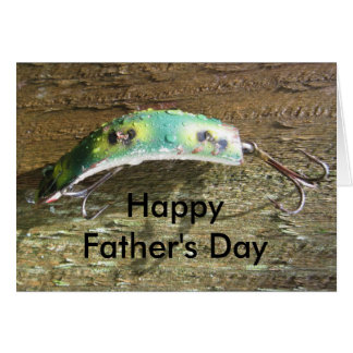 Keep Crankin' Old Fishing Lure Father's Day Card