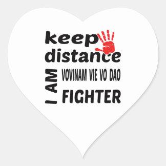 Keep Distance I  am Vovinam vie vo dao Fighter Heart Sticker