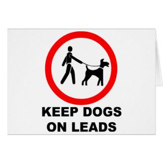 Keep Dogs on a Lead Card