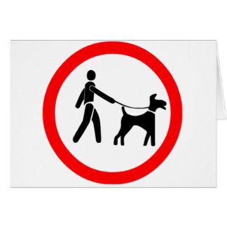 Keep Dogs on a Lead Symbol Card