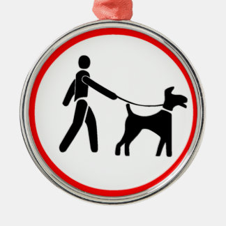 Keep Dogs on a Lead Symbol Christmas Ornament
